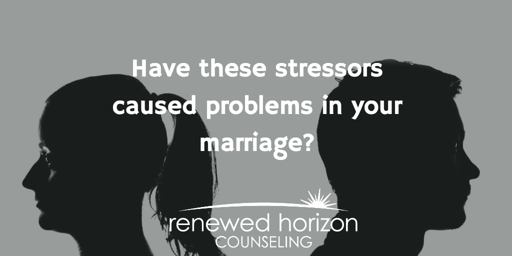 Top stressors in marriage